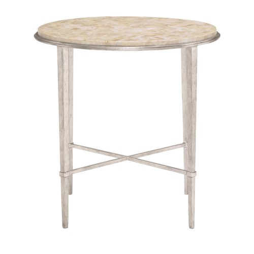 Bernhardt Solange Round Chair Side Table