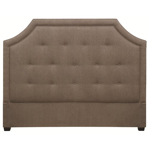 Bernhardt Sophia  Crested Queen Size Upholstered Headboard