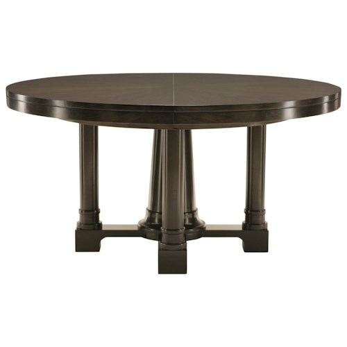 Bernhardt Sutton House Round Pedestal Dining Table with 20