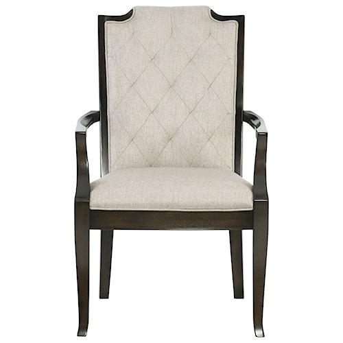 Bernhardt Sutton House Arm Chair with Diamond Tufted Back