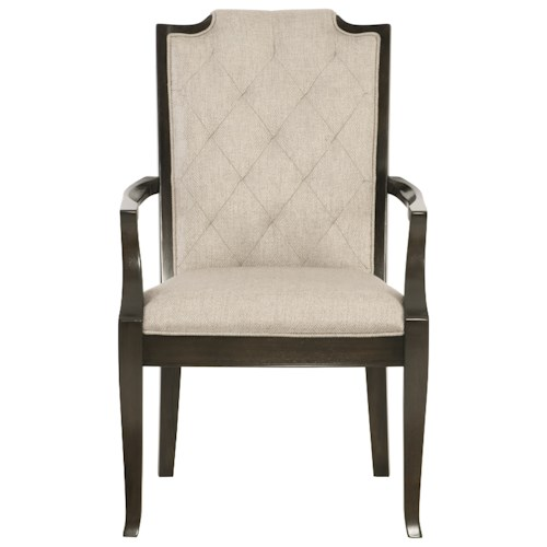 Bernhardt Sutton House Customizable Arm Chair with Diamond Tufting