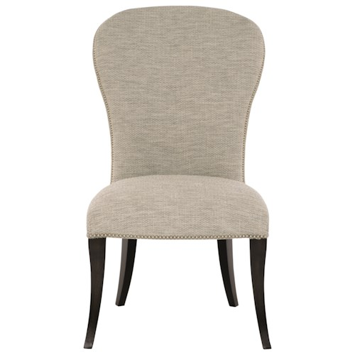Bernhardt Sutton House Customizable Upholstered Side Chair with Nailhead Trim
