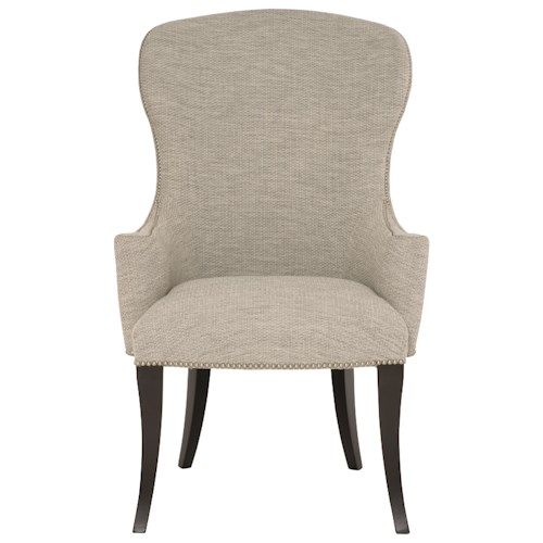 Bernhardt Sutton House Customizable Upholstered Arm Chair with Nailhead Trim