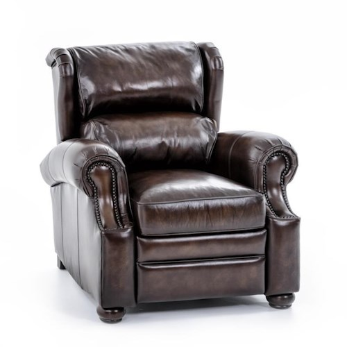 Bernhardt Upholstered Accents Warner Leather Recliner
