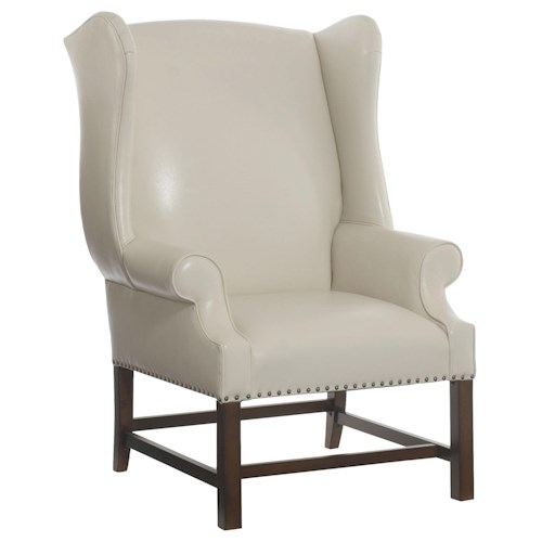 Bernhardt Upholstered Accents Wentworth Wing Chair with Transitional Style