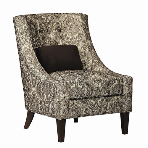 Bernhardt Upholstered Accents Audrey Chair w Tapered Legs – Upolstered Chair