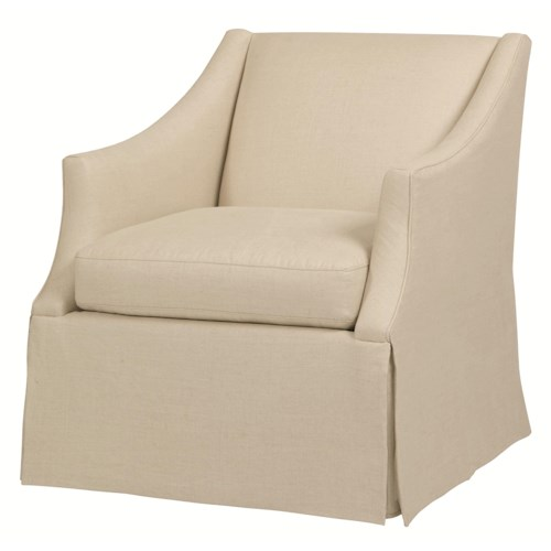 Bernhardt Upholstered Accents Clayton Upholstered Chair with Skirt