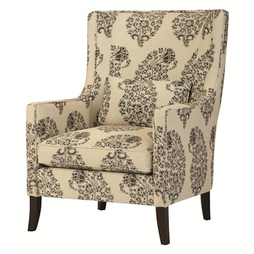Bernhardt Upholstered Accents Transitional Grantham Wing Chair in Modern Living Room Furniture Style