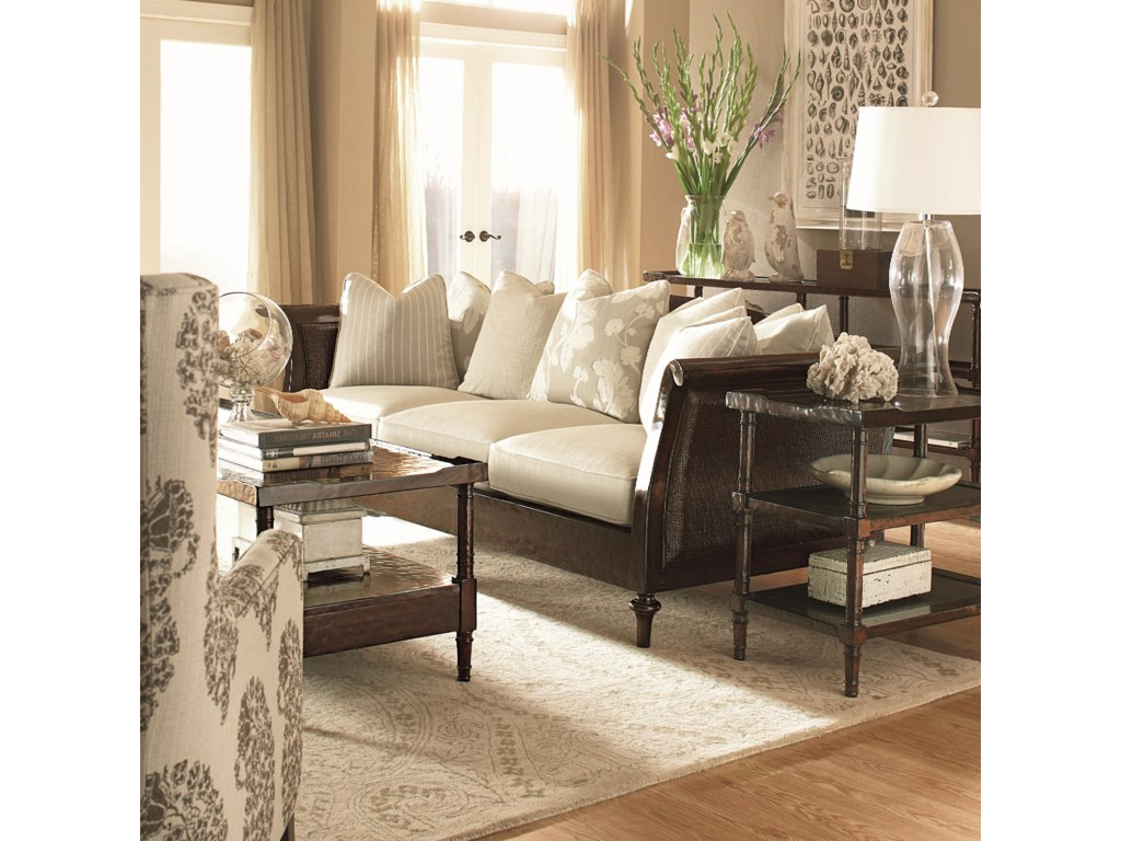 Shown Left Corner with Coordinating Accent Couch and Tables