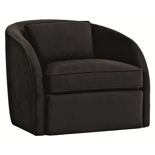 Bernhardt Upholstered Accents Turner Swivel Chair with Casual Contemporary Style