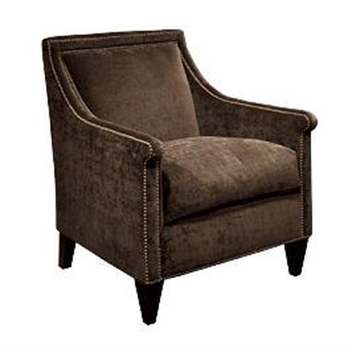 Bernhardt Upholstered Accents Barrister Chair w/ Nail Head Trim