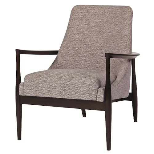 Bernhardt Upholstered Accents Noland Chair in Modern Furniture Style