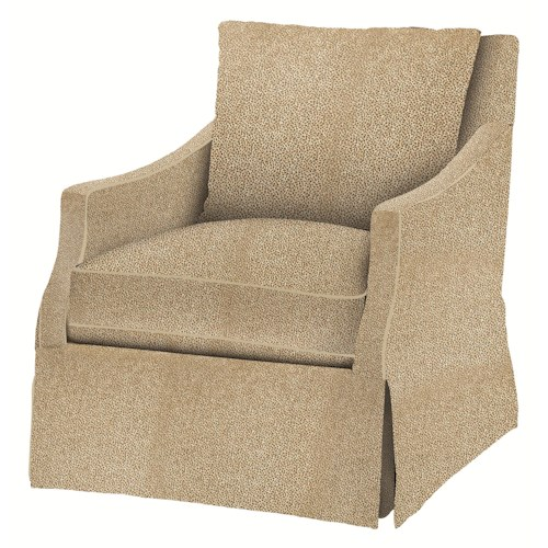 Bernhardt Upholstered Accents Reagan Swivel Chair with Track Arms