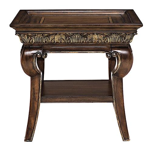Bernhardt Villa Medici End Table with Carved Apron