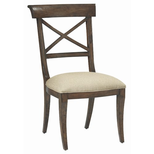Bernhardt Vintage Patina Dining Room Side Chair with Upholstered Seat