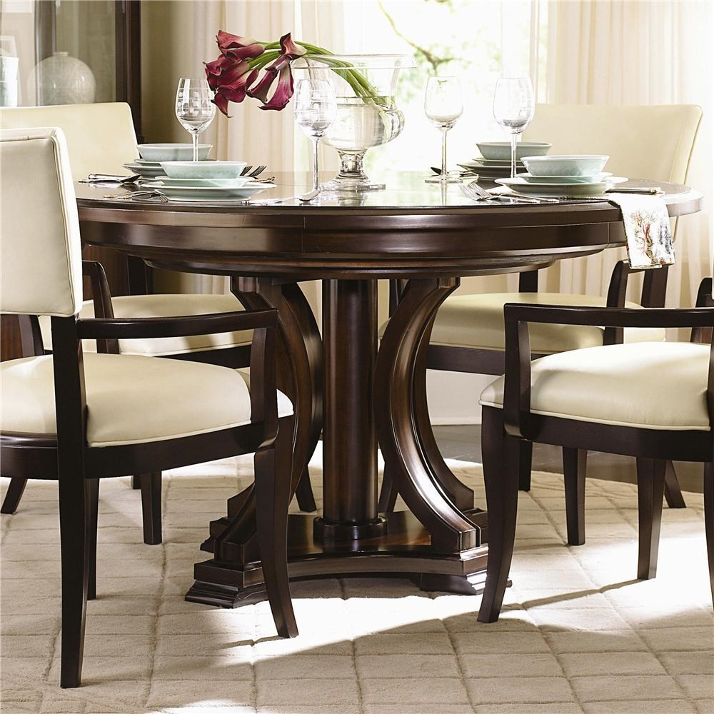 Round kitchen table with leaf - Round Pedestal Dining Table With Leaf