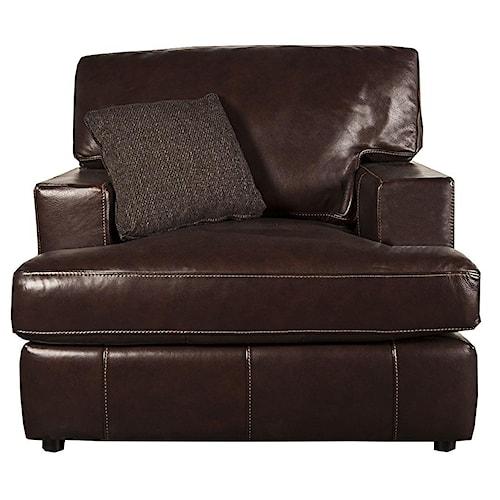 Bernhardt Winslow 100% Leather Chair
