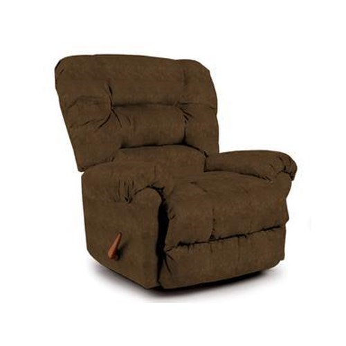 Best Home Furnishings Recliners - Medium Seger Tobacco Rocking Recliner