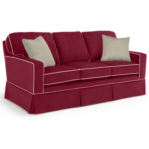 Morris Home Furnishings Annabel  <b>Customizable</b> Transitional Sofa with Rolled Arms and Skirted Base