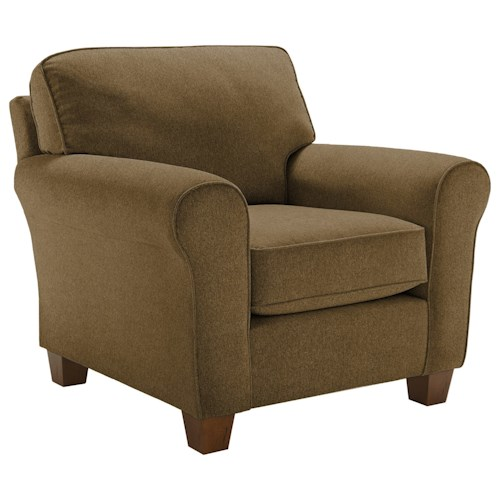 Best Home Furnishings Annabel  <b>Customizable</b> Transitional Chair with Rolled Arms and Tapered Leg