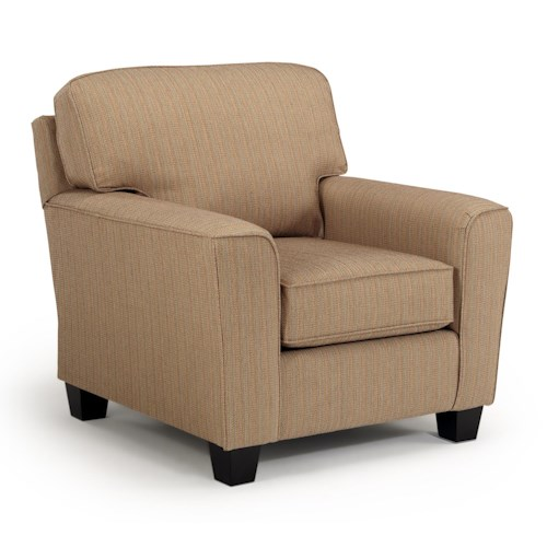Morris Home Furnishings Annabel  <b>Customizable</b> Transitional Chair with Beveled Arms and Tapered Legs