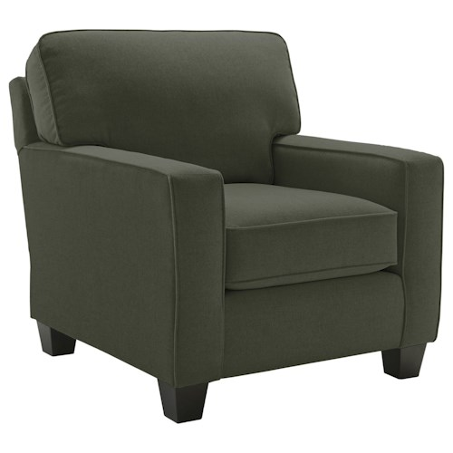 Best Home Furnishings Annabel  <b>Customizable</b> Contemporary Chair with Track Arms and Tapered Legs