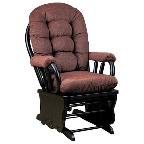 Morris Home Furnishings Bedazzle Lock Glide Rocker with Tufted Back