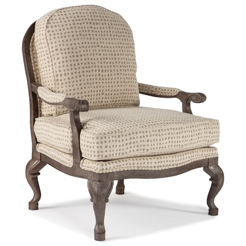 Morris Home Furnishings Chairs - Accent Cogan Exposed Wood Accent Chair
