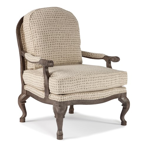 Best Home Furnishings Chairs - Accent Cogan Exposed Wood Accent Chair