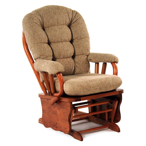 Best Home Furnishings Glider Rockers Lock Glide Rocker
