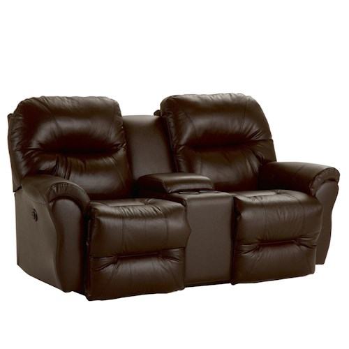 Best Home Furnishings Bodie Power Rocking Reclining Loveseat with Storage Console