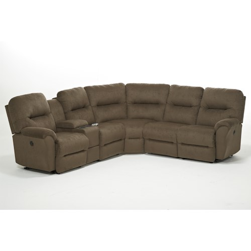 Morris Home Furnishings Bodie Six Piece Reclining Sectional Sofa