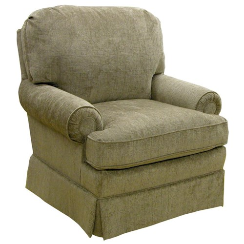 Morris Home Furnishings Braxton  Swivel Glider Club Chair with Welt Cord Trim