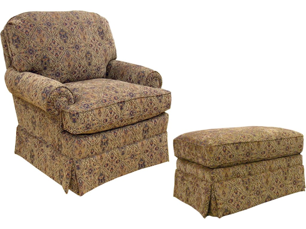 Shown with Coordinating Ottoman. Chair Shown May Not Represent Exact Features Indicated.