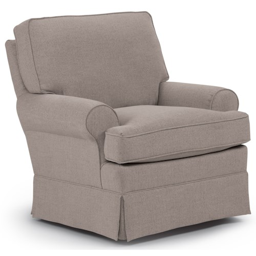 Best Home Furnishings Chairs - Swivel Glide Quinn Swivel Glider Chair with Welt Cord Trim