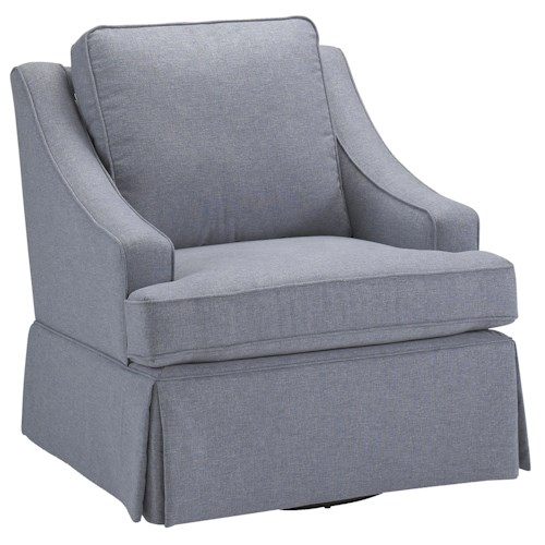 Morris Home Furnishings Chairs - Swivel Glide Contemporary Ayla Swivel Glider Chair