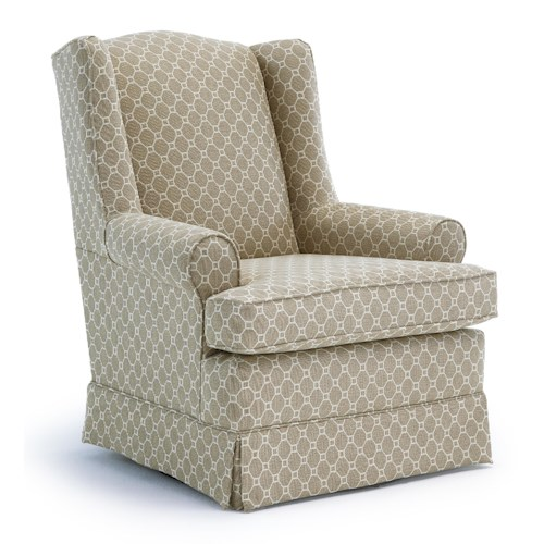 Vendor 411 Chairs - Swivel Glide Roni Skirted Swivel Glider Chair