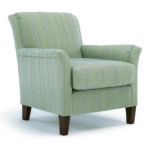 Morris Home Furnishings Chairs - Club Carson Club Chair with Flared Arms