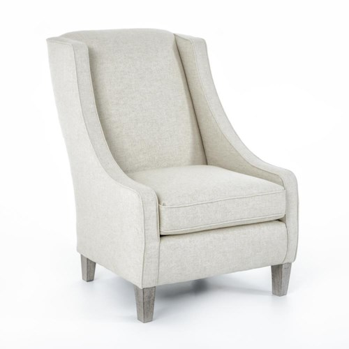 Best Home Furnishings Chairs - Club Contemporary Janice Club Chair