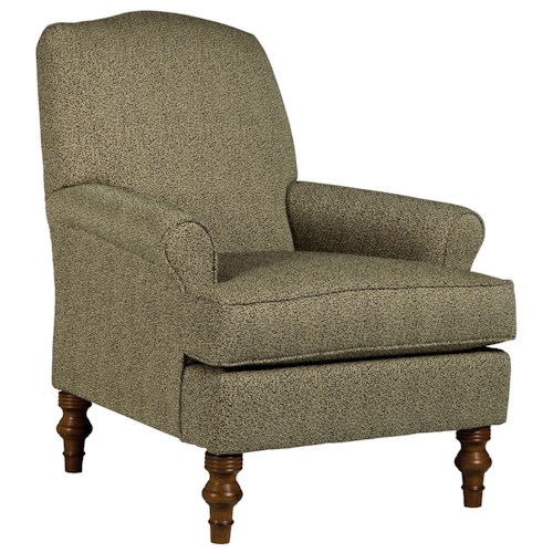 Morris Home Furnishings Chairs - Club Casual Club Chair with Slight Camel Back