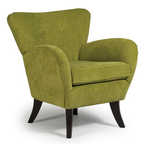 Morris Home Furnishings Chairs - Club Elnora Contemporary Club Chair with Flared Back