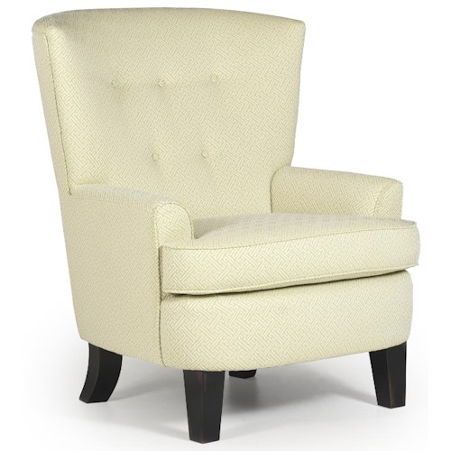 Vendor 411 Chairs - Club Transitional Luis Club Chair with Button-Tufted Back