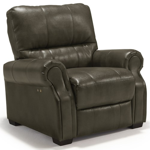 Best Home Furnishings Damien Transitional Power High Leg Recliner