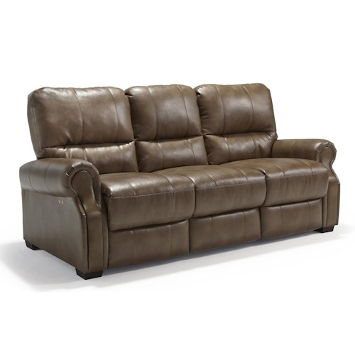 Morris Home Furnishings Damien Transitional Power Reclining Sofa with High Legs
