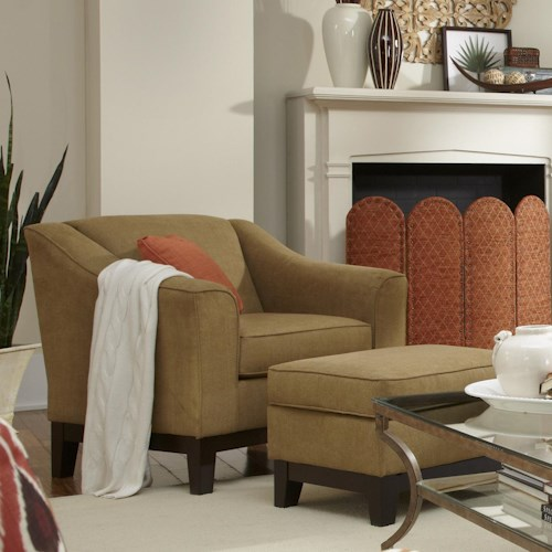 Morris Home Furnishings Emeline <b>Customizable</b> Chair and Ottoman