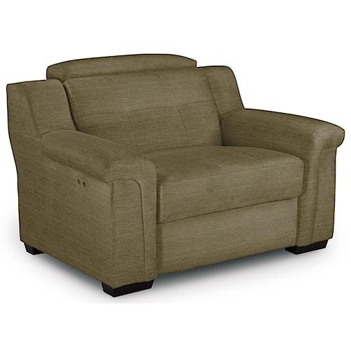 Best Home Furnishings Everette Oversized Power High Leg Recliner with Adjustable Headrest