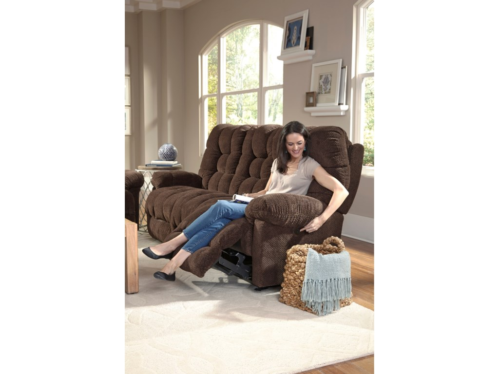Adjustable Headrest Shown on Sofa