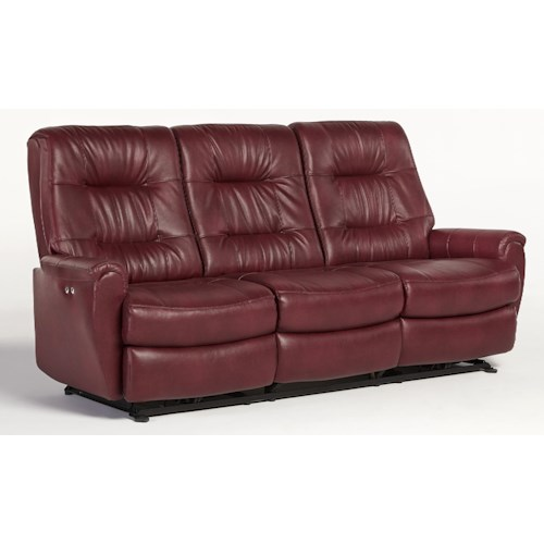 Vendor 411 Felicia  Small-Scale Reclining Sofa with Chic Button Tufting