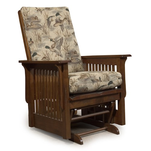 Best Home Furnishings Glide Rocker and Ottomans Texiana Glide Rocker