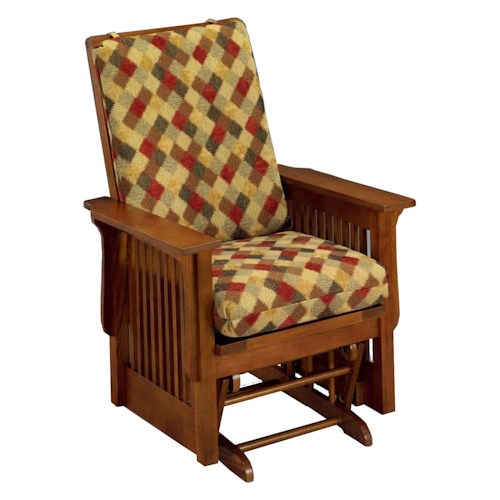 Morris Home Furnishings Glide Rocker and Ottomans Texiana Glide Rocker